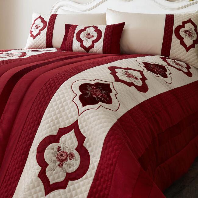 Cameo Red Bedspread 220cm x 230cm