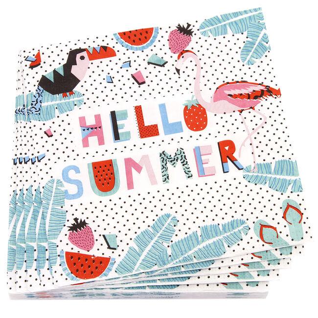 Hello Summer Napkins 20 Pack