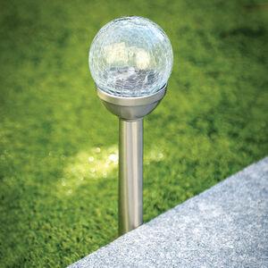 Crackle Ball Post Solar Light