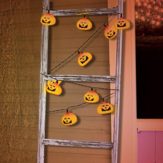 10 LED Pumpkin Lantern Lights