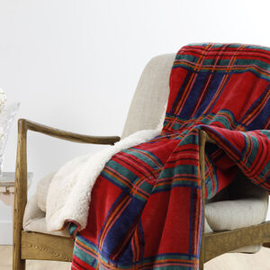 Ruane Mink Sherpa Plaid Throw 127 x 152cm