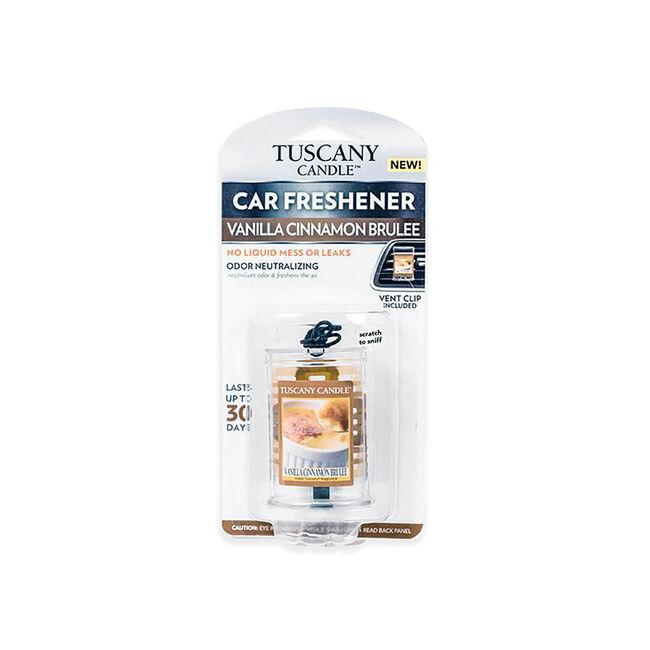 Tuscany Car Air Freshener Vanilla Cinnamon Brulee
