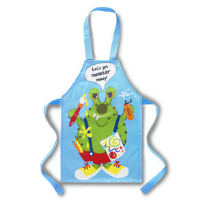 PVC Apron Monster Blue