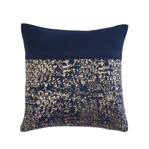 FOIL PRINT COTTON NAVY 45x45 Cushion