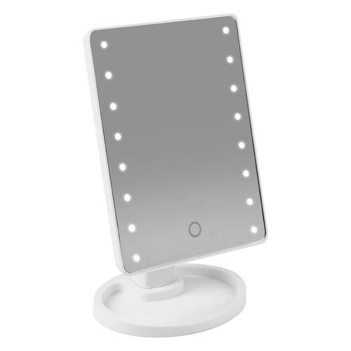 LED Smart Touch Lighting Mirror USB - White