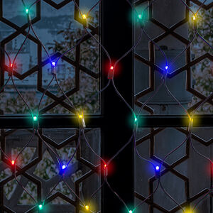 100 Multicolour Connectable Net Lights