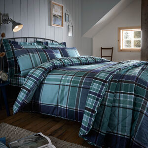 SINGLE DUVET COVER Brushed Cotton Freeman Check