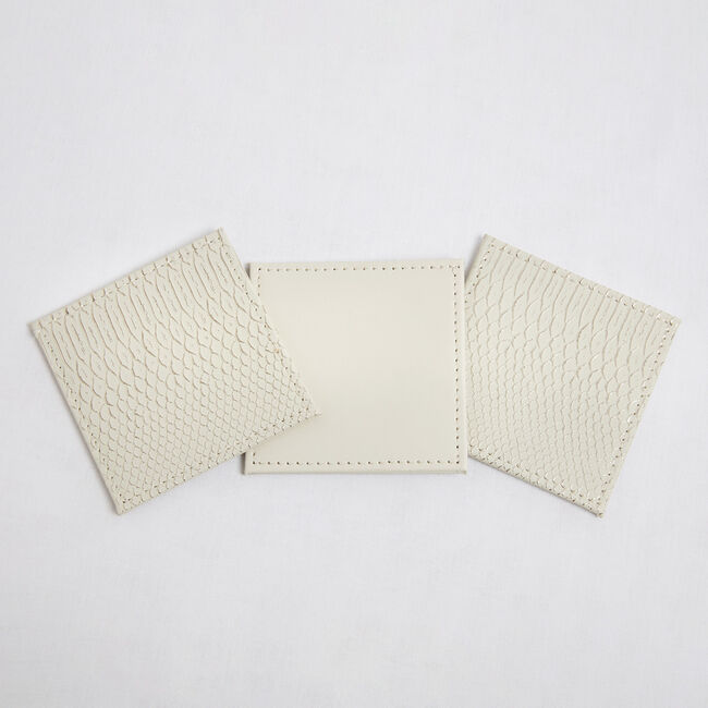 Reversible Croc Coasters - Cream