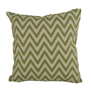 Embroidered Zigzag Cushion Natural 45cm x 45cm