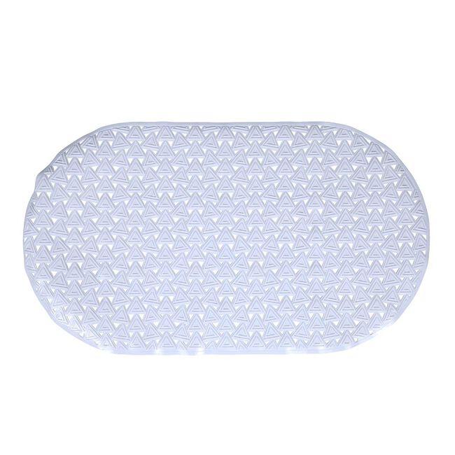 Triangles Bath Mat - White