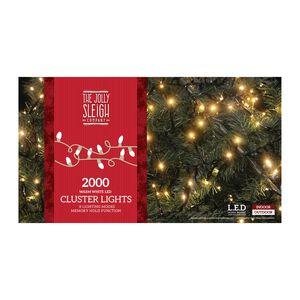 2000 Warm White LED Cluster Lights