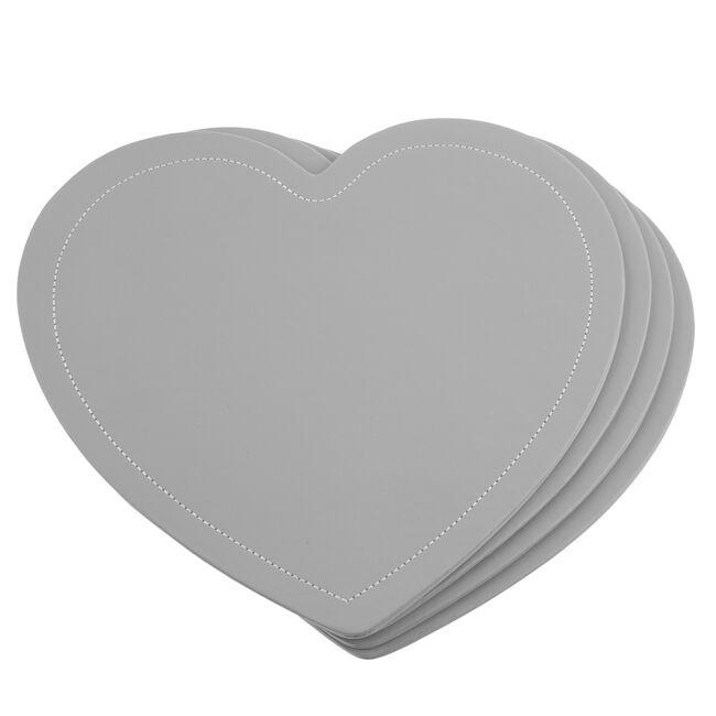 Reversible Heart Grey & Duck Egg Placemats