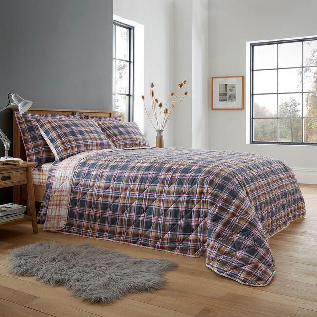Harper Check Bedspread 200x220cm