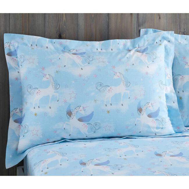 Whimsical Unicorn Oxford Pillowcase Pair -Duck Egg