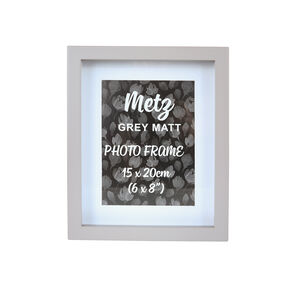Metz Grey Matt Photo Frame 6x8""