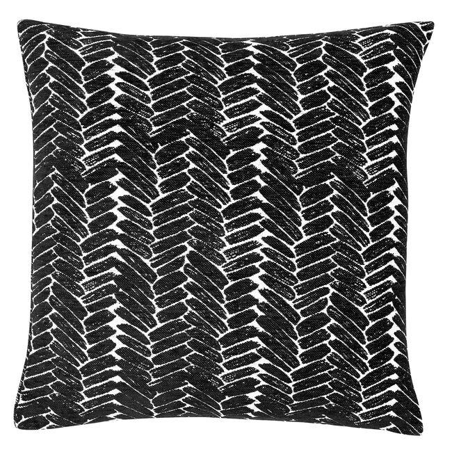 Night Peacock Cushion 58x58cm - Black