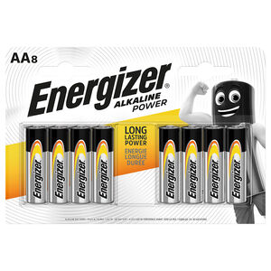 Energizer Alkaline Power AA Batteries - 8 Pack