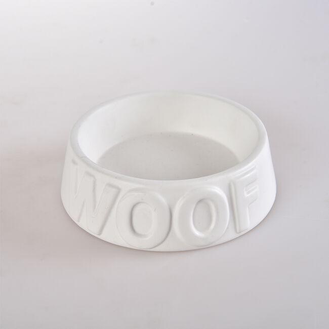 Woof Ceramic Pet Bowl