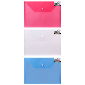 A4 Document Wallets 3 Pack