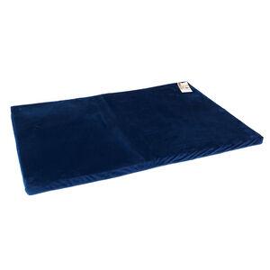 Velvet Memory Foam Pet Bed 100x70cm - Navy