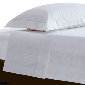 SB FLAT SHEET Dapper Stripe White 300tc
