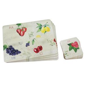 Fruit Mats & Coasters 4Pk