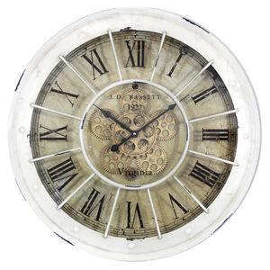 Cream Cogs Clock 60CM