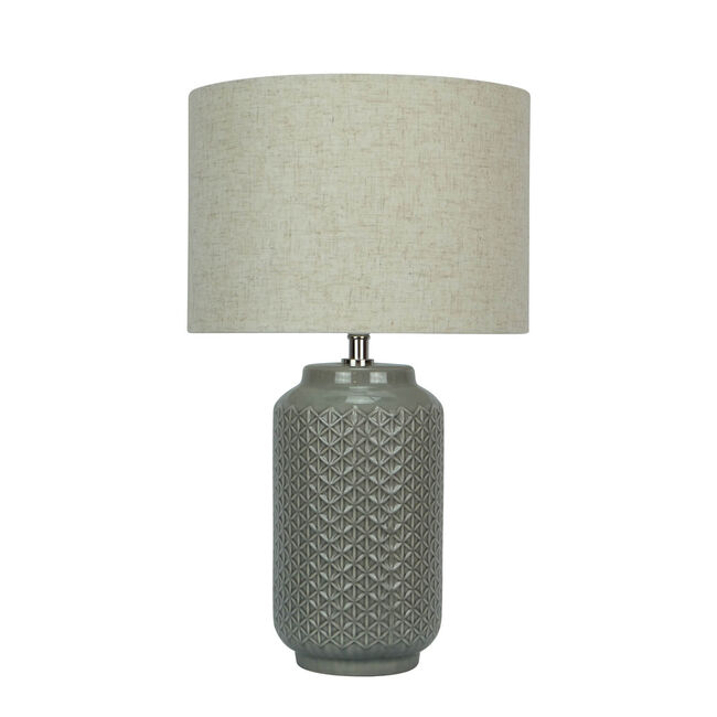 Glazed Etched Table Lamp