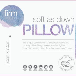 Soft As Down Microfibre Pillow