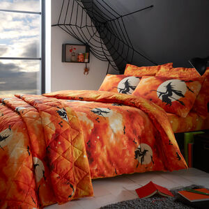 SINGLE DUVET COVER Witch Silhouette