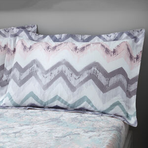 Hannah Oxford Pillowcase Pair - Grey/Blush