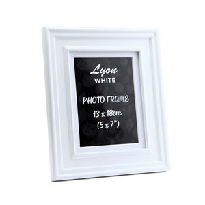 Lyon White Photo Frame 5x7""