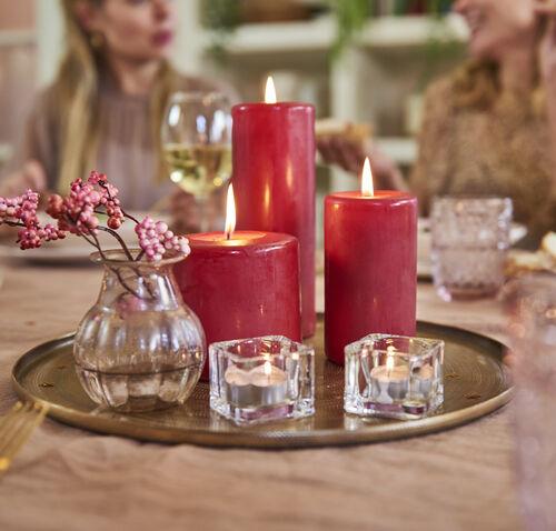 Bolsius Red Pillar Candle 13 x 7 cm