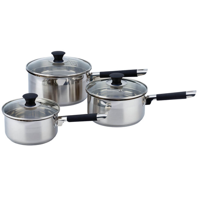 Cuisine Draining 3 Piece Cookware Set