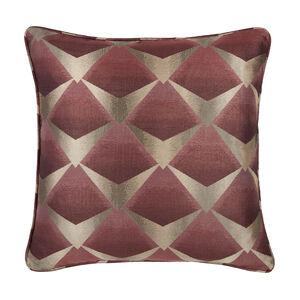 Deco Fan Cushion 58 x 58cm - Wine