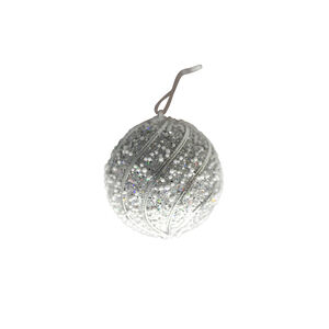 Glitter Bauble Tree Decoration - Silver