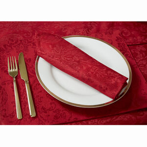 Damask Medallion Placemat 2 Pack - Red