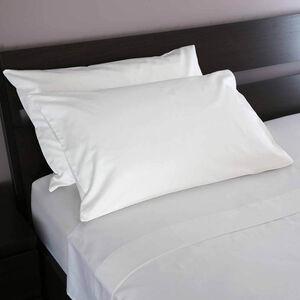 800TC Cotton Housewife Pillowcase Pair - White