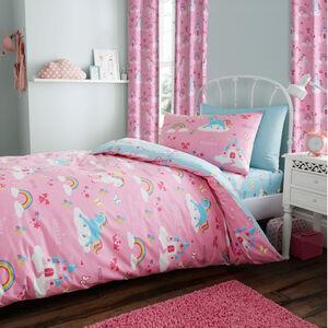 PRINCESS & SPARKLE  PINK/MULTI 66x90 Curtain