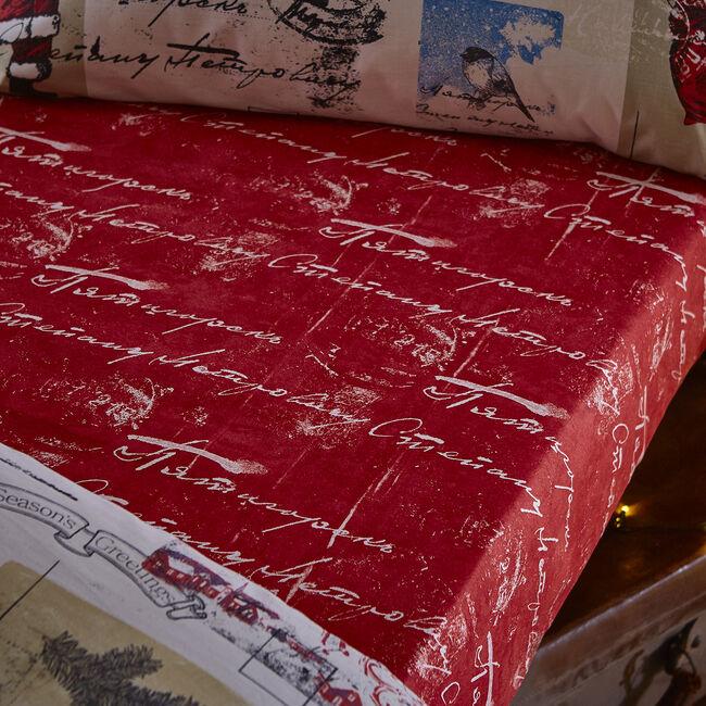 Vintage Santa Single Fitted Sheet