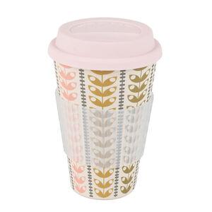 Retro Daisy Pink Bamboo Sippy Mug