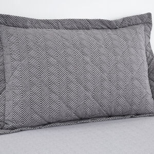 Dave Charcoal Oxford Pillowcase Pair