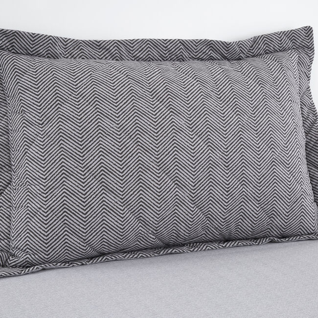 Dave Charcoal Oxford Pillowcase Pair