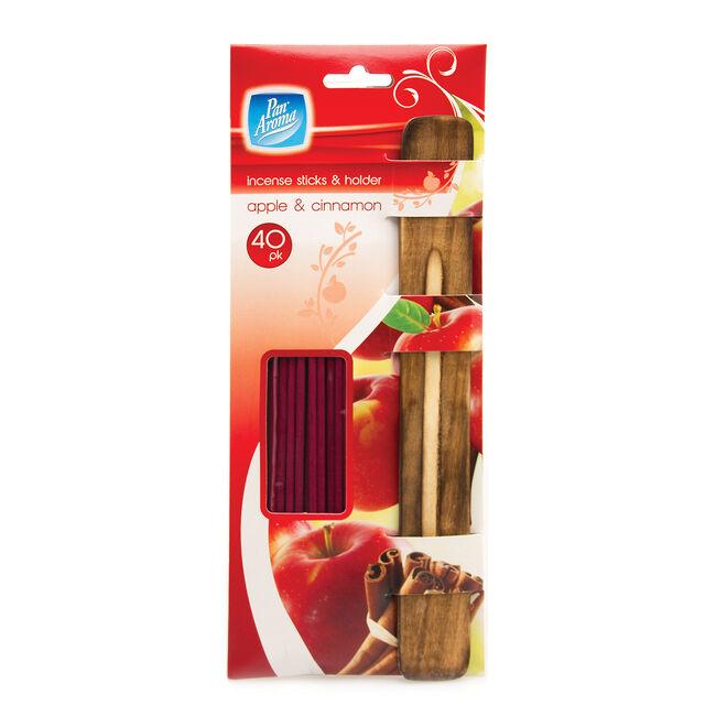 Incense Sticks & Holder apple & Cinnamon