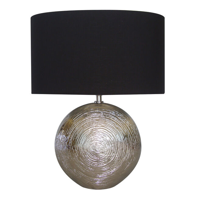 Silver Scratched Moon Ceramic Lamp