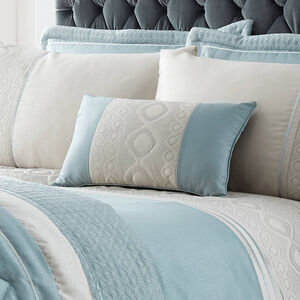 Luxury Geo Pillowshams Duck Egg 50x75cm