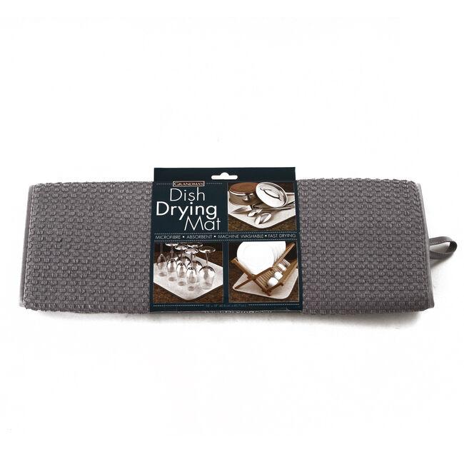 Dish Drying Mat Grey