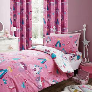 PRINCESS MAGIC PINK/MULTI 66x54 Curtain