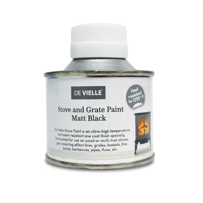 De Vielle Stove Paint Matt Black 100ml