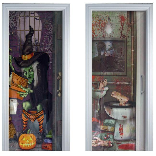 Halloween Bathroom Door Cover